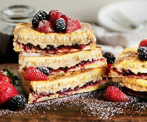 food, berries, and breakfast image