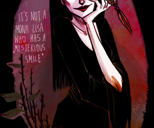 art and Morticia Addams image