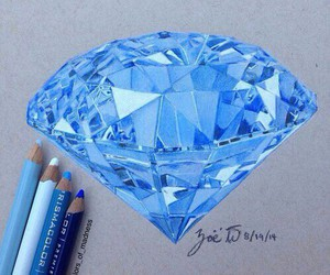 diamond, art, and blue image