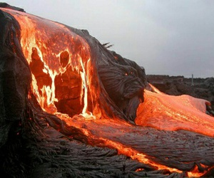 lava, volcano, and fire image