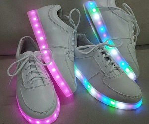 white, pink, and shoes image