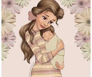 disney, baby, and belle image