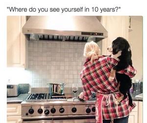 dog, funny, and future image