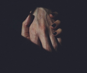 love, black, and hands image