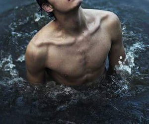 blue, collar bones, and water image