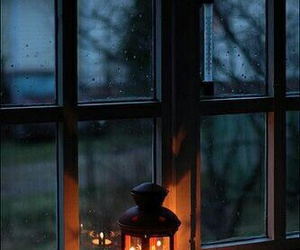 light, rain, and window image