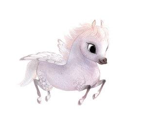 horse, pegasus, and cute image
