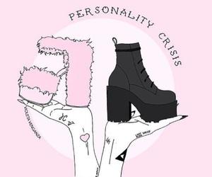 pink, black, and grunge image