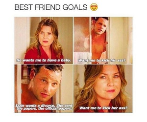 meredith grey, grey's anatomy, and best friends image
