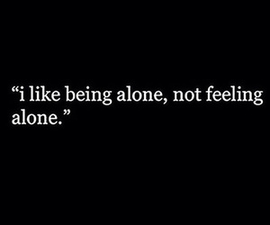 quote and alone image
