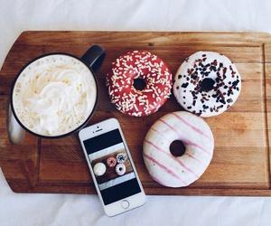 food donuts coffee image