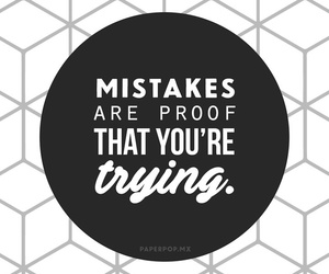 mistakes, quotes, and wallpaper image