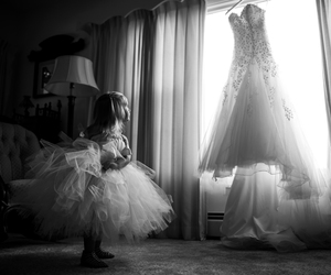 black and white, bnw, and little girl image