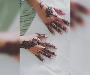 designs, hand, and henna image
