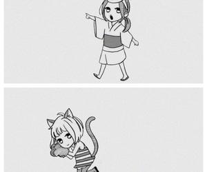 black&white, kawaii, and manga image
