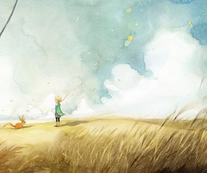 fox, little prince, and book image