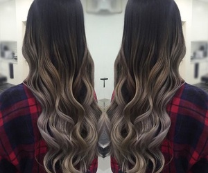 ombre, balayage, and brunette image