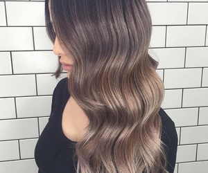 brunette, hair, and ombre image