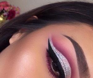 eyebrows, makeup, and beauty image