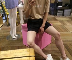 aesthetic, korean girl, and pastel image