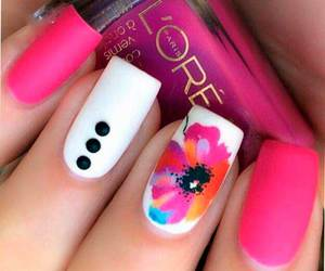nails, loreal, and pink image