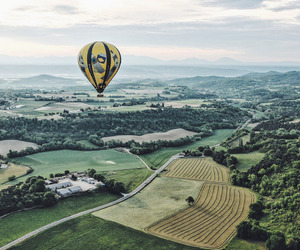 landscape, balloon, and fly image