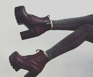 heels, shoes, and burgundy image
