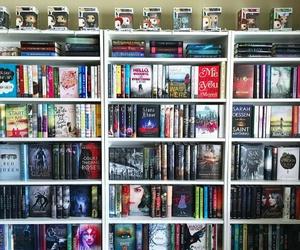 bookshelf and books image