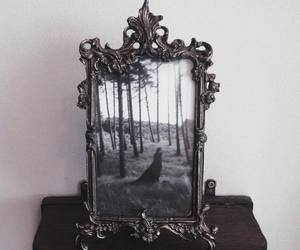 mirror, dark, and frame image