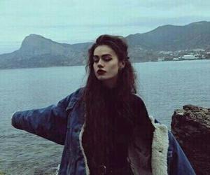 girl, grunge, and sea image