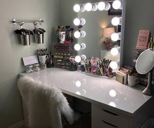 makeup, room, and light image