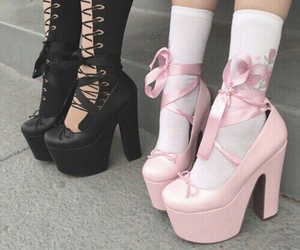 black, shoes, and pink image