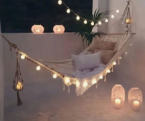 lights, night, and relax image