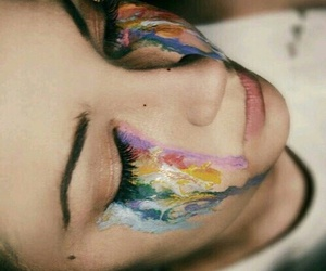 art, cry, and colors image