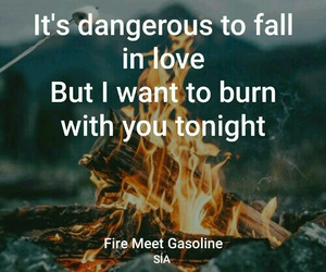 burn, fire, and Lyrics image