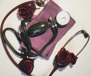 medicine and flowers image