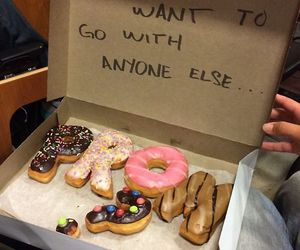 boyfriend, cuty, and donuts image