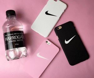 nike, pink, and black image