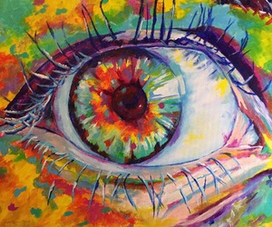 art, eye, and colors image