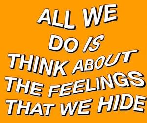 feelings, Lyrics, and orange image