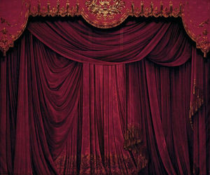 curtain, red, and theatre image