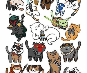 cats, jedi, and star wars image