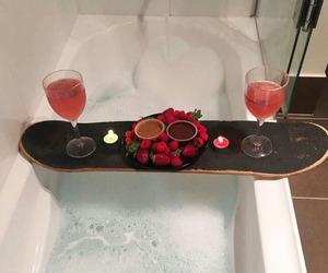 bath, romantic, and skateboard image