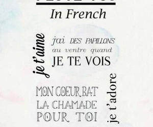french, I Love You, and je t'aime image