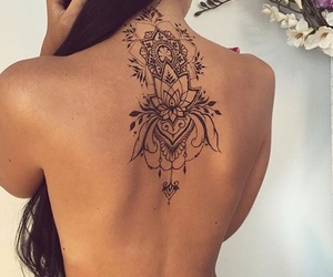 back, henna, and mandala image
