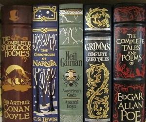 book, narnia, and sherlock holmes image