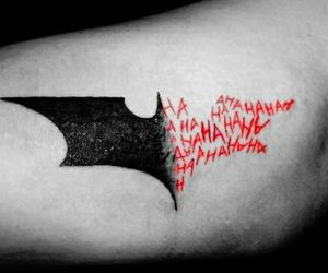 batman, joker, and tattoo image