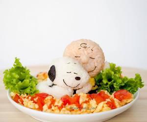charlie brown, food, and rice image