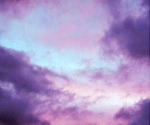 clouds, cool, and purple image