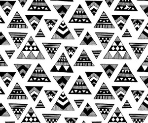 black and white, pattern, and wallpaper image